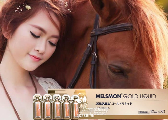 Nước uống nhau thai ngựa Melsmon Gold Liquid Nhật Bản 4