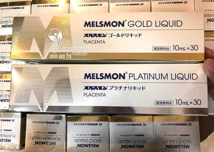 Nước uống nhau thai ngựa Melsmon Gold Liquid Nhật Bản 5