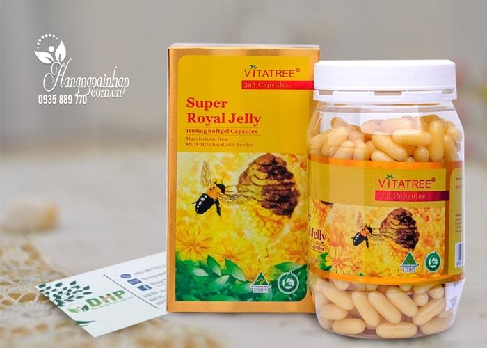 Sữa ong chúa Vitatree Super Royal Jelly 1600mg hộp 365 viên của Úc