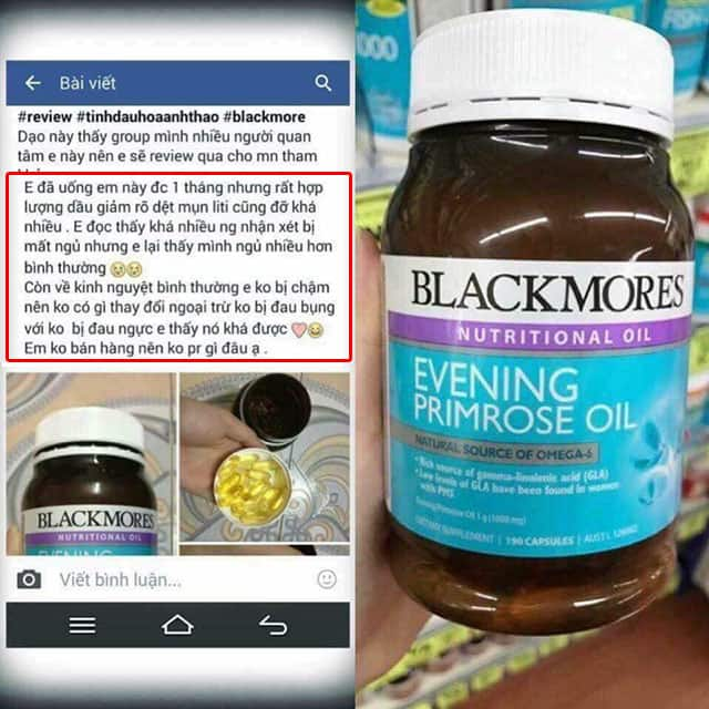 Mời bạn xem tinh dầu hoa anh thảo blackmores Úc Review từ mốt số người đã sử dụng 1