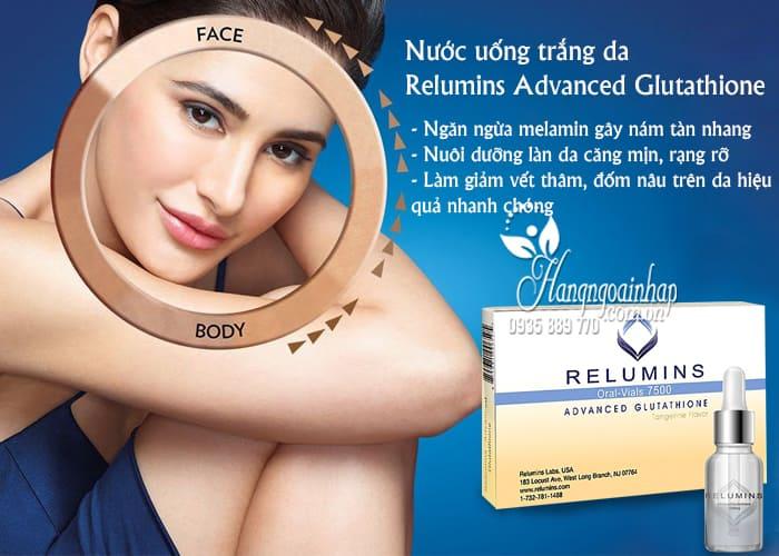 Nước uống trắng da Relumins Advanced Glutathione 7500mg 3