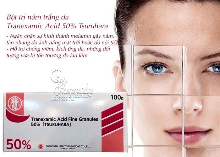 Bột trị nám trắng da Tranexamic Acid 50 Tsuruhara 100g 4