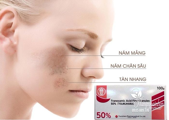 Bột trị nám trắng da Tranexamic Acid 50 Tsuruhara 100g 2