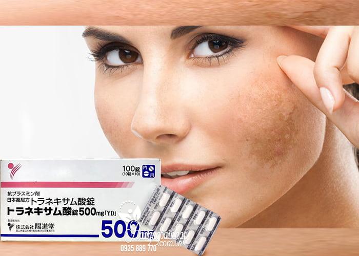 Công dụng của thuốc làm trắng trị nám Transamin 500mg