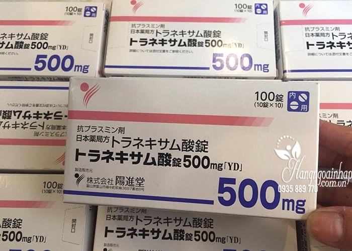 Viên uống trắng da trị nám Transamin 500mg Nhật Bản 100 viên 5