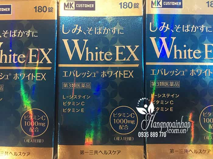 Viên uống trắng da trị nám White EX 270 viên 1000mg của Nhật 10