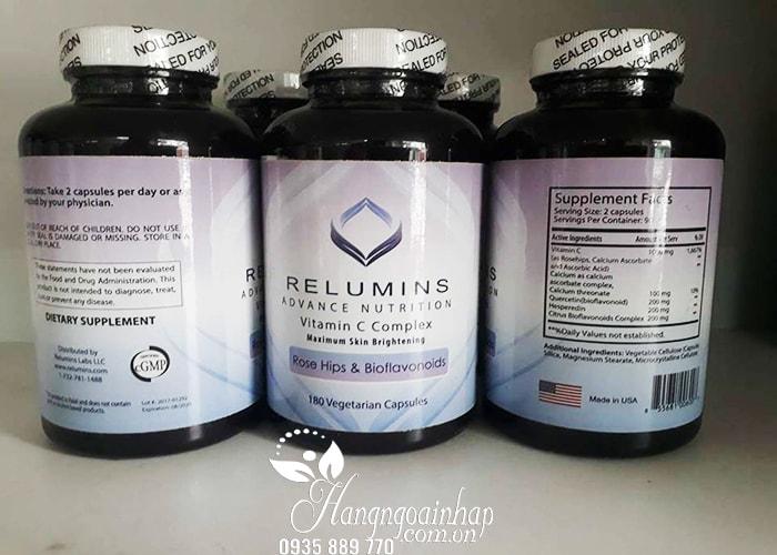 Viên uống trắng da Relumins Vitamin C Complex 180 viên của Mỹ (1)