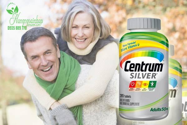 Centrum Silver Multivitamin 50+ 285 Viên - Vitamin Cho Người Trên 50 Tuổi
