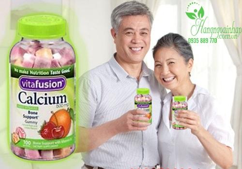 Kẹo dẻo Vitamin dành cho người lớn Calcium 500mg Gummy của Mỹ