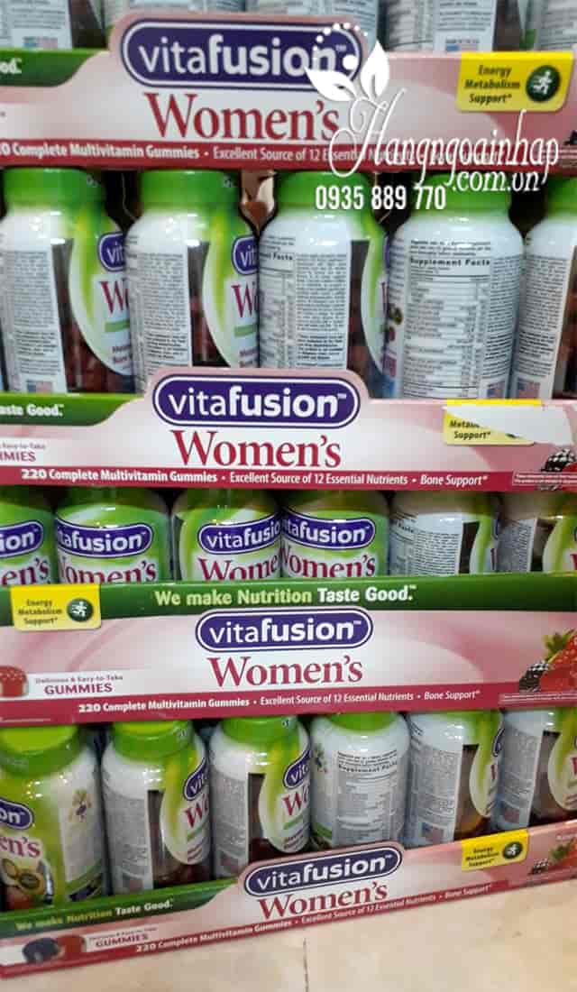 Kẹo dẻo Vitamin Vitafusion Women's Multivitamin 220 viên cho phụ nữ 5