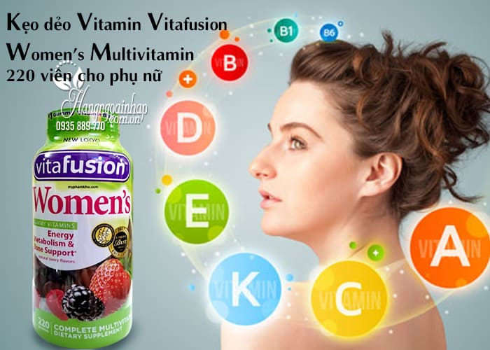 Kẹo dẻo Vitamin Vitafusion Women's Multivitamin 220 viên cho phụ nữ 2