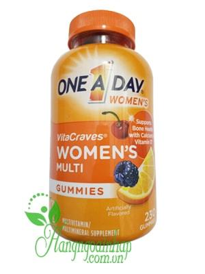 Kẹo Vitamin One A Day Women's VitaCraves Gummies của Mỹ 230 viên