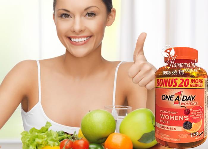 Kẹo Vitamin One A Day Women's Vitacraves Gummies 170 viên của Mỹ 2