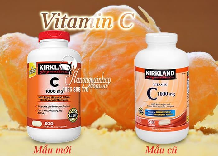 Viên Uống Bổ Sung Vitamin C 1000mg Kirkland 500 Viên của Mỹ 1