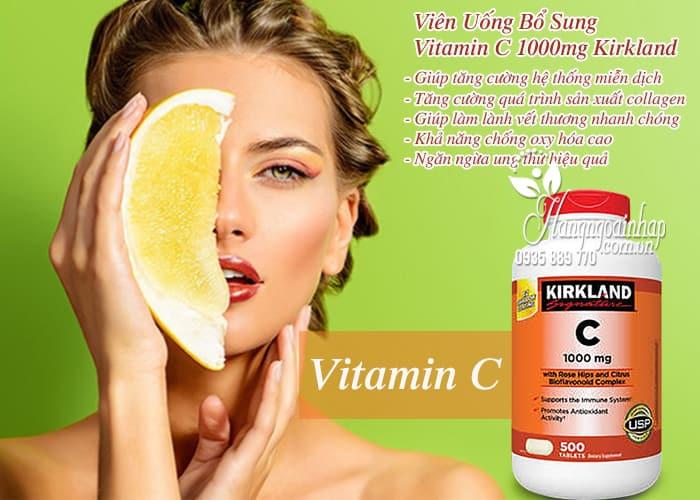 Viên Uống Bổ Sung Vitamin C 1000mg Kirkland 500 Viên của Mỹ 4