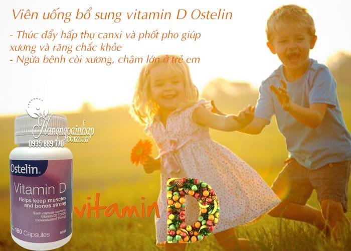 Viên uống bổ sung vitamin D Ostelin 180 viên chính hãng Úc  4