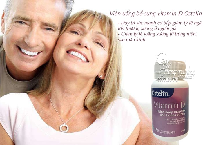 Viên uống bổ sung vitamin D Ostelin 180 viên chính hãng Úc  5