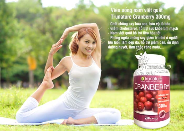 Viên uống nam việt quất Trunature Cranberry 300mg hộp 250 viên 3