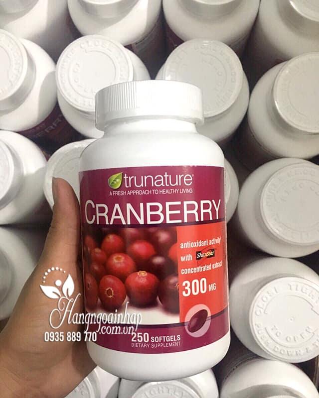 Viên uống nam việt quất Trunature Cranberry 300mg hộp 250 viên 2
