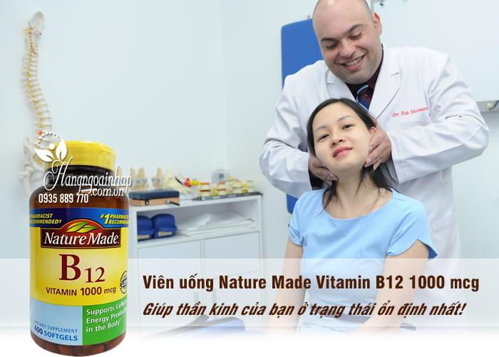 Viên uống Nature Made Vitamin B12 1000 mcg hộp 400 viên của Mỹ 1