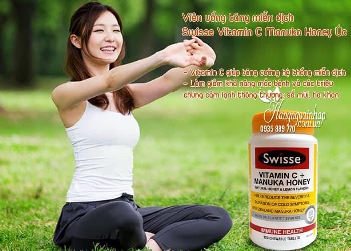 Viên uống tăng miễn dịch Swisse Vitamin C Manuka Honey Úc 3