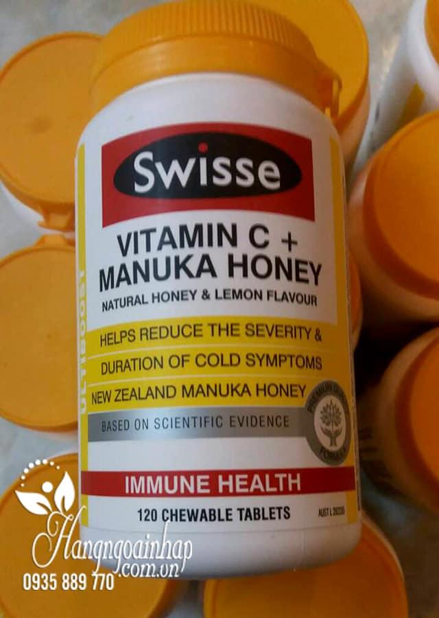 Viên uống tăng miễn dịch Swisse Vitamin C Manuka Honey Úc 1