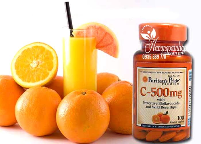Viên uống Vitamin C 500mg Puritans Pride 100 viên của Mỹ 1