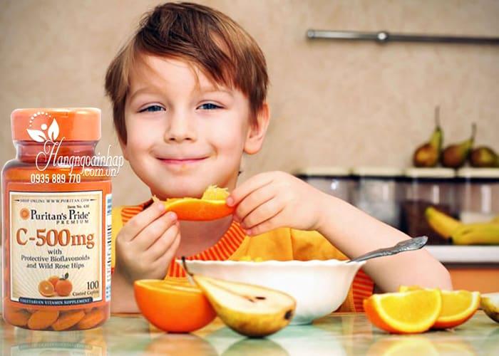 Viên uống Vitamin C 500mg Puritans Pride 100 viên của Mỹ 2
