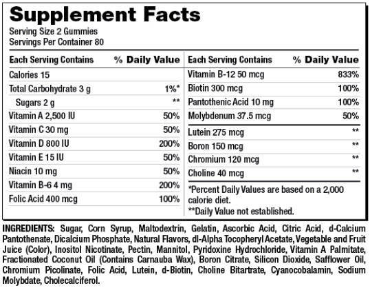 Kẹo dẻo bổ sung vitamin cho người lớn Kirkland Signature Adult Multivitamin