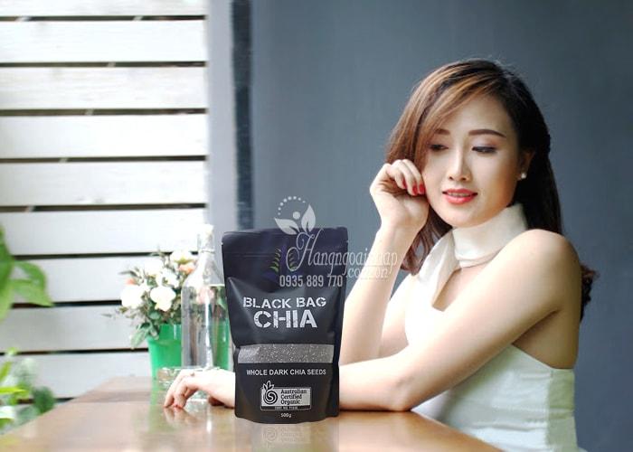 Hạt chia Úc Black Bag Chia túi 500g-Hạt chia hữu cơ Úc, chính hãng từ Úc