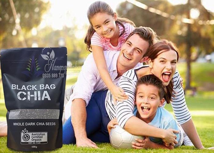 Hạt chia Úc Black Bag Chia túi 500g-Hạt chia hữu cơ Úc-Nhập từ Úc