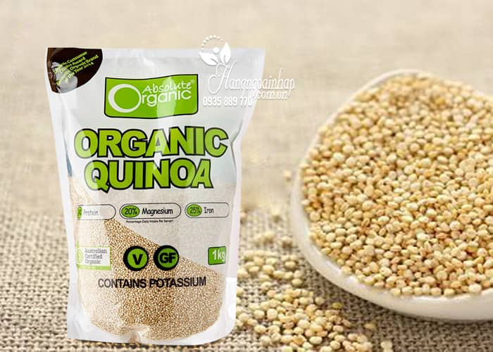 Hạt diêm mạch hữu cơ Organic Quinoa 1kg của Úc