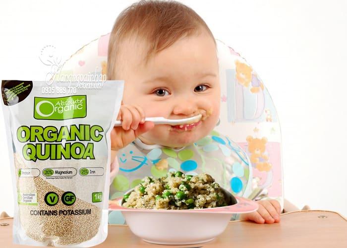 Hạt diêm mạch hữu cơ Organic Quinoa 1kg nhập khẩu từ Úc