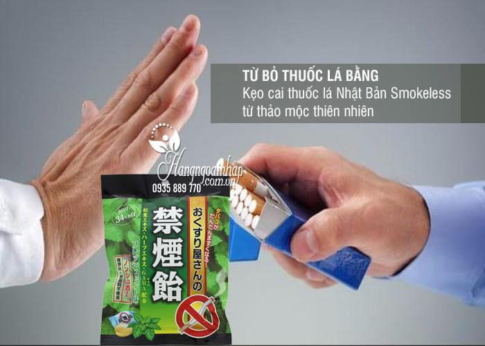 Kẹo cai thuốc lá Nhật Bản Smokeless từ thảo mộc thiên nhiên 3