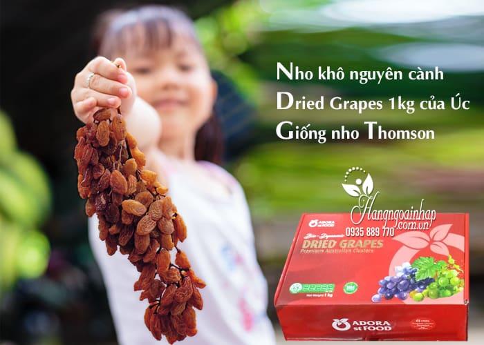 Nho khô nguyên cành Dried Grapes 1kg của Úc-Giống nho Thomson 1