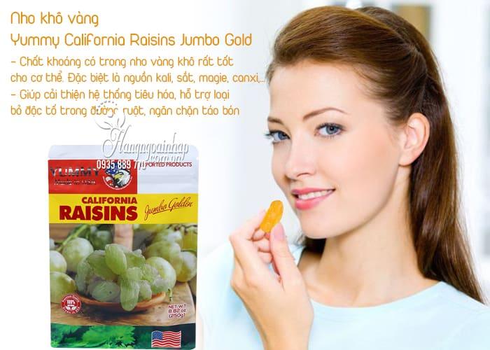Nho khô vàng Yummy California Raisins Jumbo Gold 250g Mỹ 2