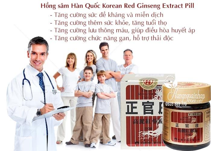 Viên uống hồng sâm Hàn Quốc Korean Red Ginseng Extract Pill 3
