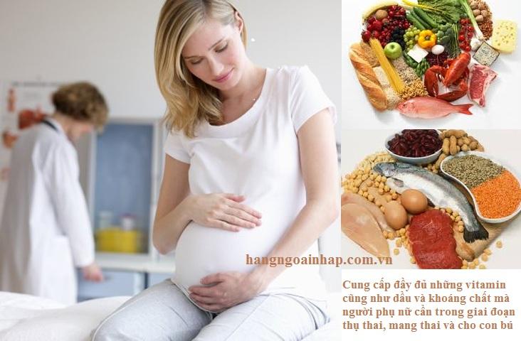 Cung cấp đầy đủ vitamin giúp Mẹ và thai nhi phát triển khỏe mạnh