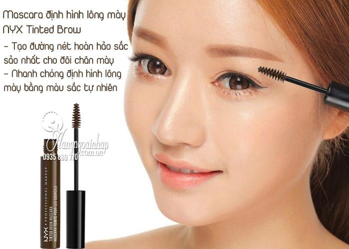 Mascara định hình lông mày NYX Tinted Brow của Mỹ 2