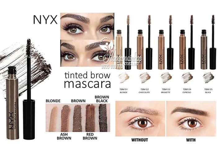 Mascara định hình lông mày NYX Tinted Brow của Mỹ 1