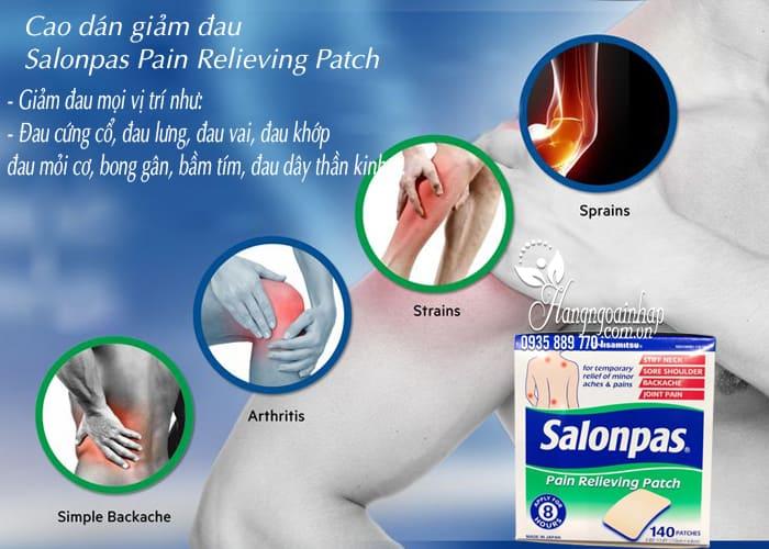 Cao dán giảm đau Salonpas Pain Relieving Patch 140 miếng 4