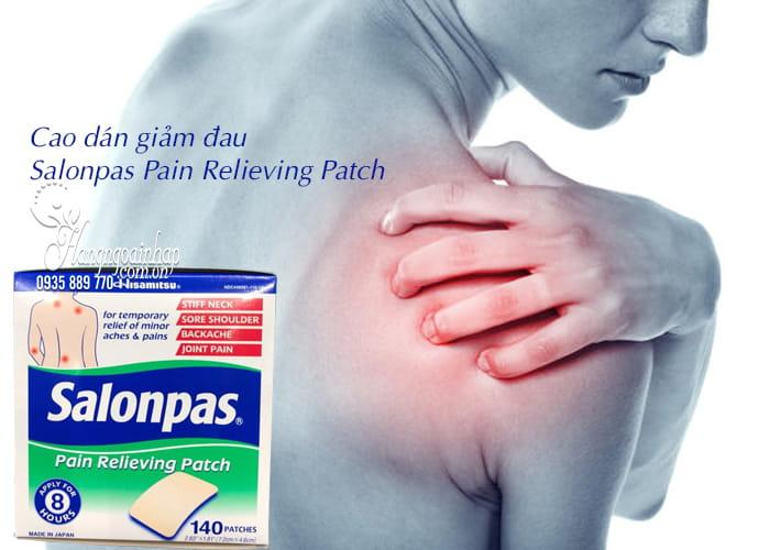 Cao dán giảm đau Salonpas Pain Relieving Patch 140 miếng 3
