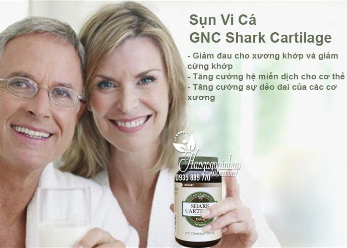 3.Sụn Vi Cá Mập GNC Shark Cartilage 750mg 180 Viên Của Mỹ
