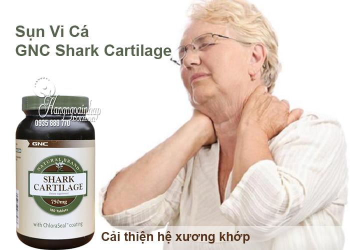 Sụn Vi Cá GNC Shark Cartilage 750mg 180 Viên Của Mỹ 1