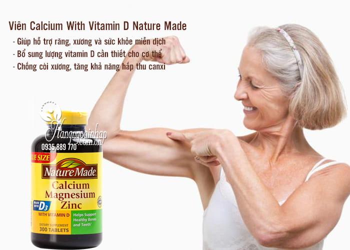 Viên Calcium With Vitamin D Nature Made 300 Viên Của Mỹ 3